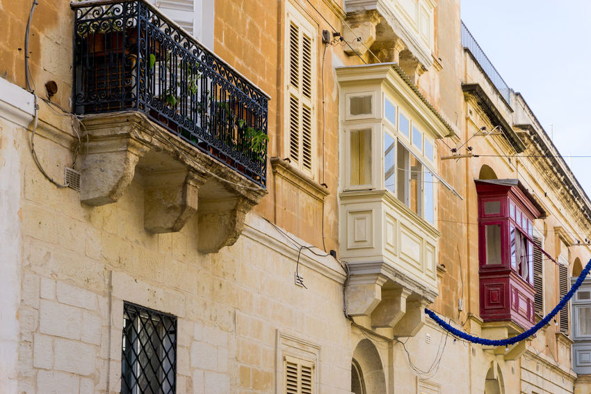 Architecture Architecture Balcony Building Building Exterior Built Structure Capital City Day Europe Low Angle View Malta Marsaxlokk Mediterranean  No People Outdoors Residential Building Tourism Traditional Travel View Village Window