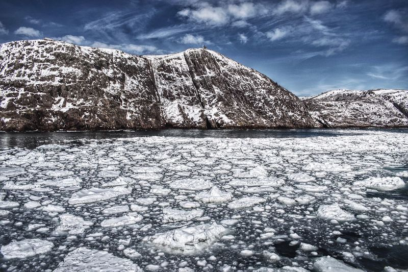 Snow Cold Temperature Winter Nature Scenics Weather Beauty In Nature Tranquil Scene Tranquility Sky Day Frozen Outdoors Landscape No People Mountain Ice Wilderness Area Ocean Frozen Ocean