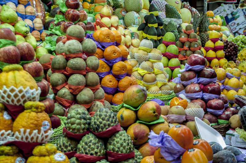 Fruits In Market Displayed For Sale In Market