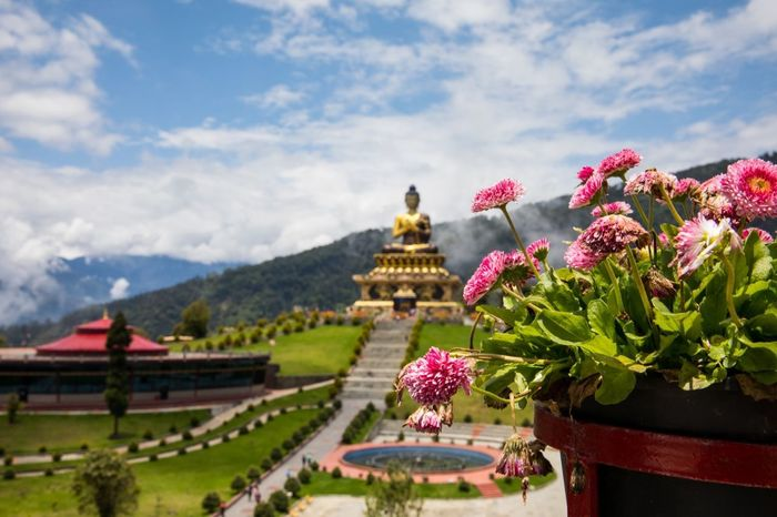 Peace comes from within The Buddha Park of Ravangla, also known as Tathagata Tsal, is situated near Rabong in South Sikkim district, Sikkim, India. The key feature is the 130-foot high statue of the Buddha as its centerpiece. The park offers a panoramic view of snow capped mountains, and an ample walkway for visitors to enjoy the serene surroundings, spiritual ambience of the location adds to the experience. Beauty In Nature EyeEm EyeEm Best Shots EyeEm Gallery EyeEm Nature Lover EyemBestEdits Eyembestedits-nature Eyembestshots Eyemgallery Eyemmasterclass Eyemnaturelover Eyemphotography F/∞ Flower Freshness Nature Outdoors Place Of Worship Religion Shuttercrazy Sky Sohillaad SohilLaadPhotography Spirituality Travel Destinations