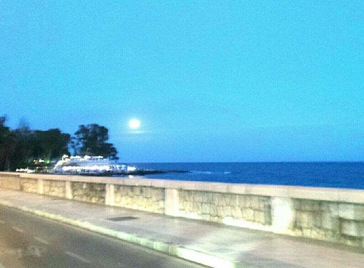 Blue Moon Moon Moonlight Bluemoon From My Point Of View Enjoying The View Sea And Sky Seaside Sea View Getting Creative