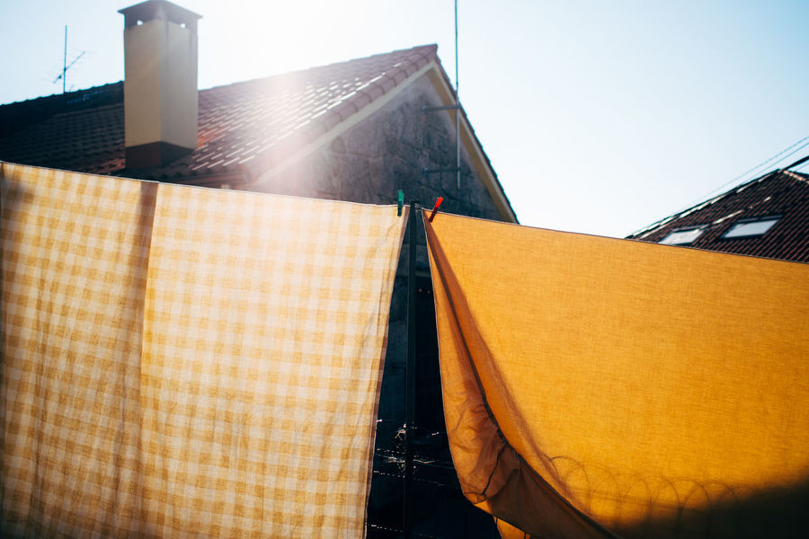mostly yellow Bed Linen Building Exterior Built Structure City Drying Eyeemphoto Hikinggalicia No People Outdoors Sunny Tall - High Washing Washing Day Yellow Two Is Better Than One Enjoy The New Normal BYOPaper! Paint The Town Yellow