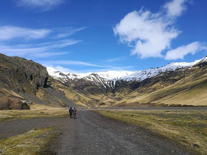 Road to the Hidden Pool Mountain Mountain Range Landscape Outdoors Beauty In Nature Hannallaysadventure Iceland, Reykjavik Icelandic_explorer