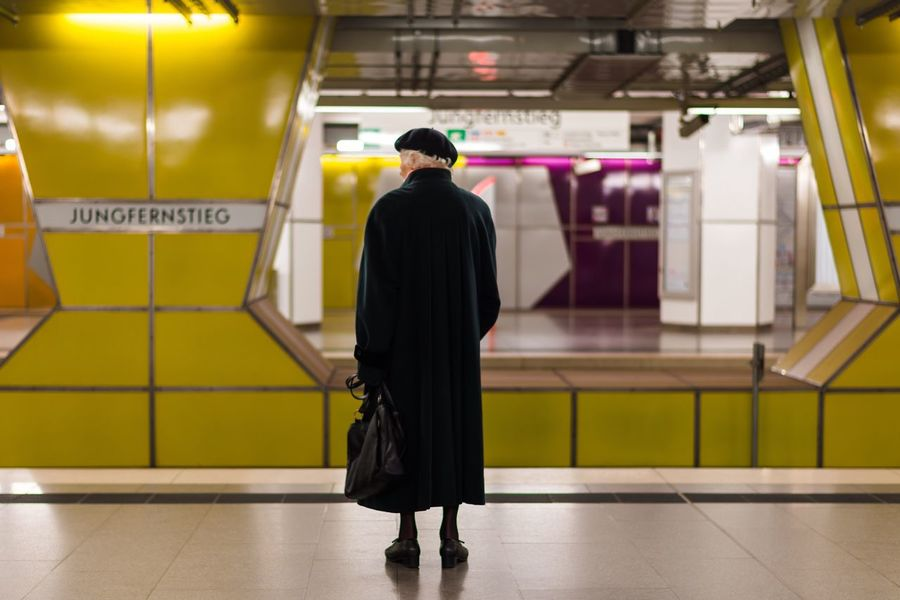 Time is passing by... Hamburg Jungfernstieg Street Streetphotography Street Photography Urban Metro Metro Station Streetphoto_color Street Portrait Street Life Art Old And New Age Old Elderly Time Passes By Aging Envision The Future Feel The Journey