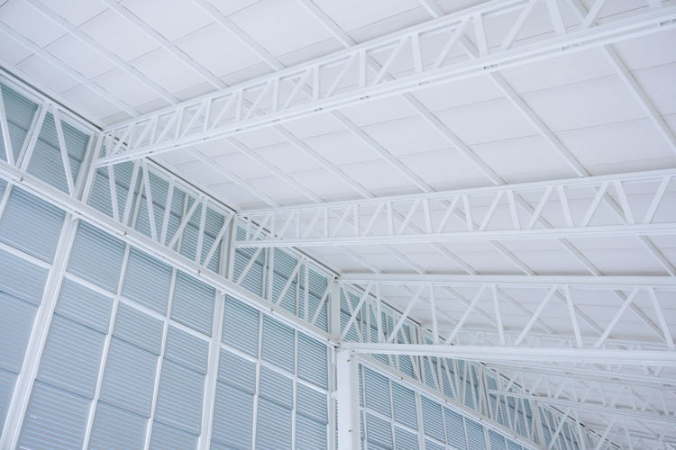 Low angle view of modern ceiling in building