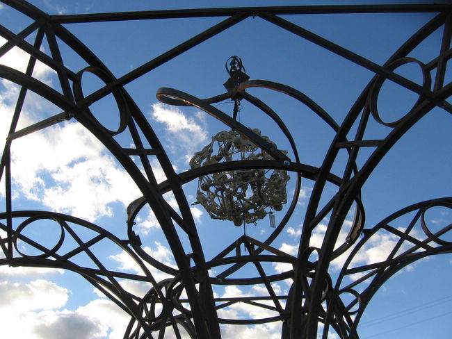 Art Blue Cloud - Sky Day Geometric Shape Ironwork  Low Angle View Metal Art No People Outdoors Sky