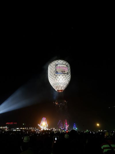 Arts Culture And Entertainment Night Nightlife Outdoors Sky Taunggyi Hot Balloons Festival Hot Balloon