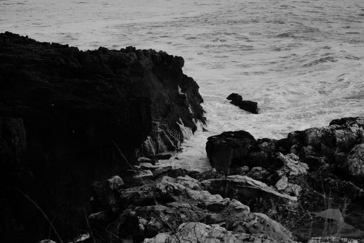 Sea Water Rock - Object Nature Beach No People Outdoors Day Tranquility Beauty In Nature Scenics Guincho EyeEm Nature Lover EyeEmNewHere