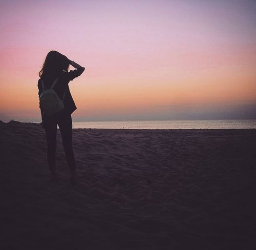 Sea Beauty Girl Day Outdoors Море закат🌇 One Person People Nature Sky красивыйвид