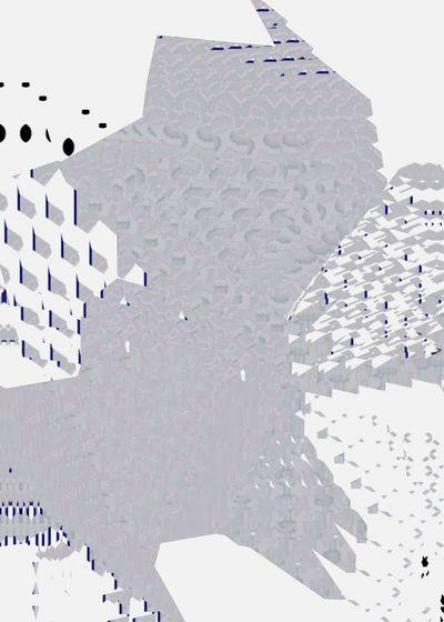 (@πt) Pixelated Technology Innovation Modern Business Puzzle  Data Business Finance And Industry