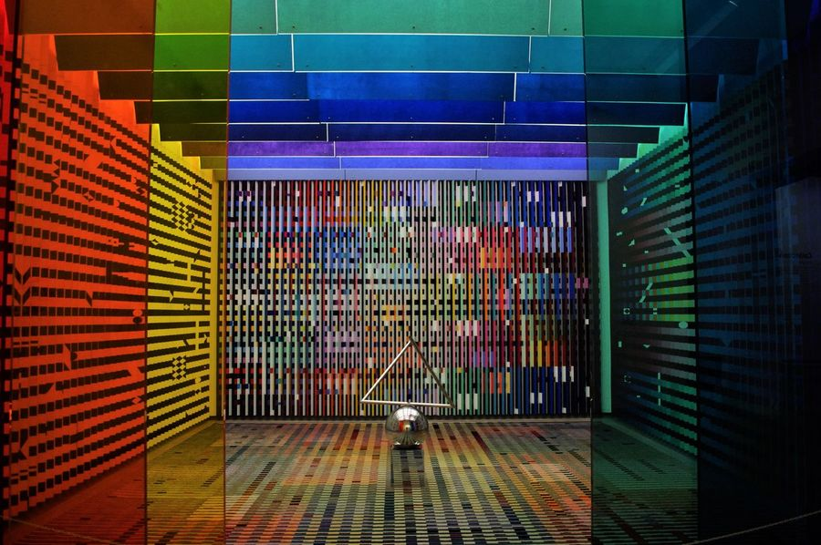 Architecture Art Illuminated Indoors  Modern Multi Colored No People Pompidou