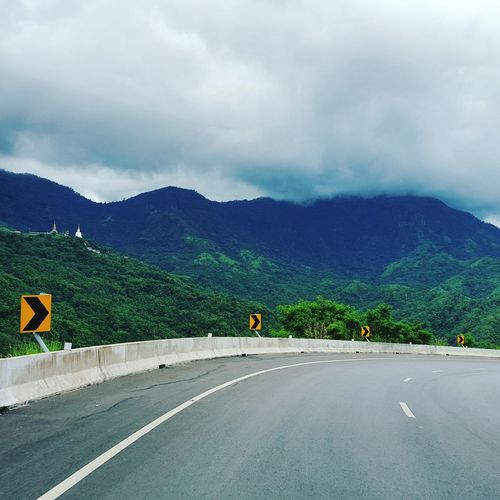 Mountain Road Cloud - Sky Tree Outdoors Day Sumsung Galaxy S6 Landscape Nature Road Trip Thailand Travel Sometimes :) Always Sky MISSING U