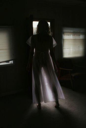 Anticipation Light And Shadow Nightgown Windows Silhouette Ontario, Canada Self Portrait Full Length Shadow Mystery Spooky Dark The Portraitist - 2018 EyeEm Awards The Fashion Photographer - 2018 EyeEm Awards 2018 In One Photograph International Women's Day 2019