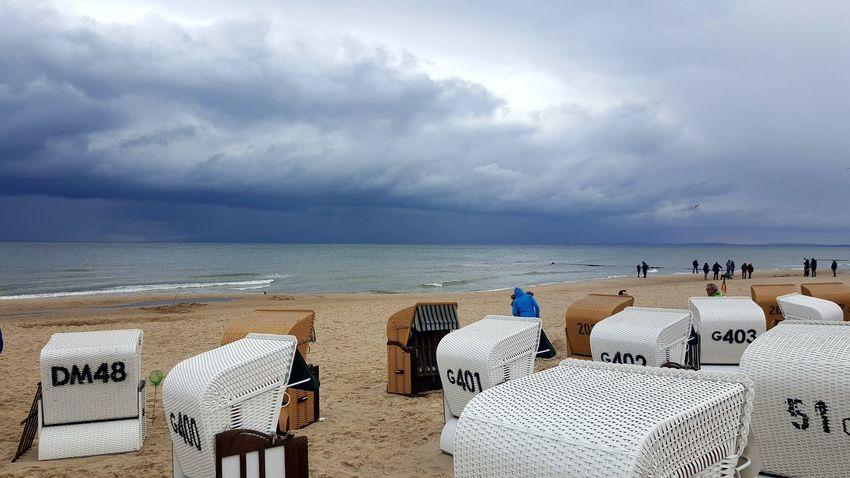 Germany Baltic Sea Coastline Beach Hut