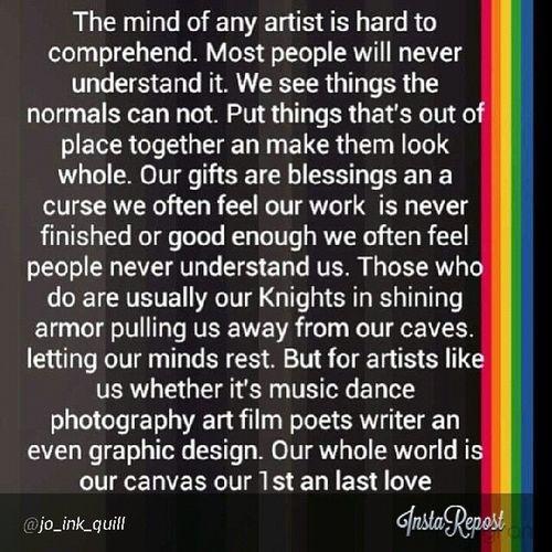 MindofanARTIST Musicianlife Artdealerchic ArtLife ( repost via @jo_ink_quill )
