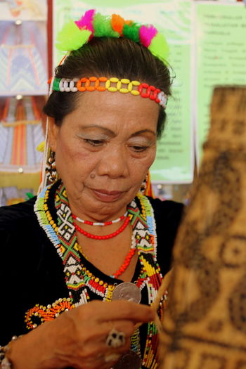 An ethnic at Sabah is making their traditional craft. Bornean Craftmakers Ethnic Portrait Sabah Borneo Sabah Ethnic Sabah Malaysia Sabahan Traditional Costume Traditional Craft Traditional Culture First Eyeem Photo