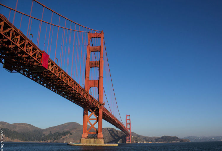Architecture Bridge - Man Made Structure Clear Sky Connection Day No People Outdoors River Sky Suspension Bridge Transportation Travel Destinations Water