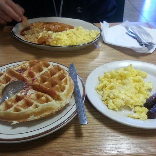 Breakfast with my nephew Mollies Bomb
