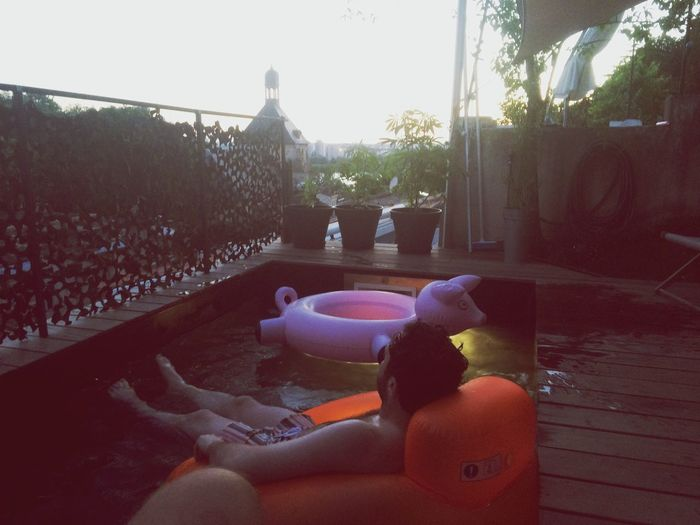 Sunset Vibes Pool Plants Bordeaux Vacation France Rooftop Timeout