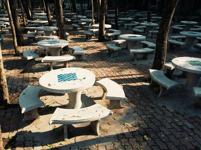Marble Table Marble Desk Park School Shadow Focus On Shadow Long Shadow - Shadow Hooded Beach Chair Growing Treelined