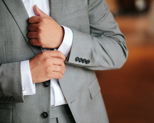 Midsection Of Businessman