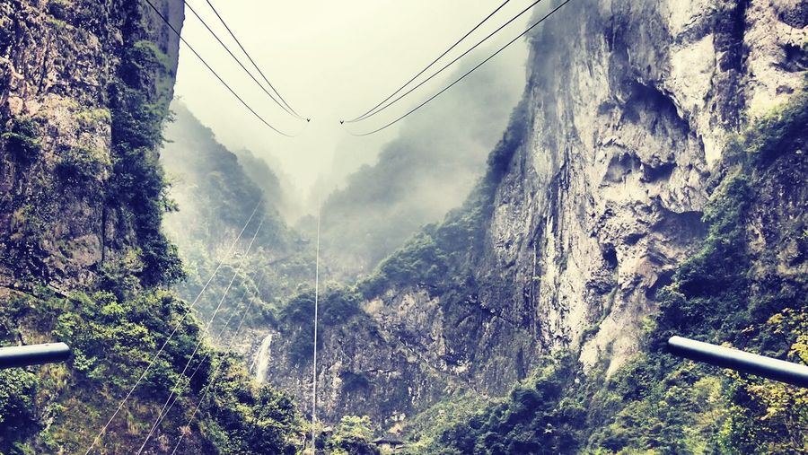 Waiting for my cable Zhejiang,China Mountain View From My Point Of View Landscape_Collection Cable Mountains Mist Fog Foggy Morning Rainy Days Cable Car