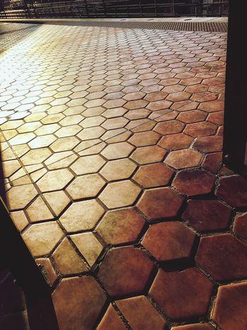 The City Light City Street Patterns City Sideawalk Orange Color