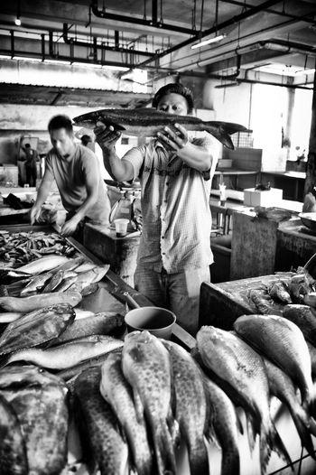 Fishmarket Leica Black And White Photography LeicaMMonochrome Spako Showcase: February Streetphotography First Eyeem Photo Luxembourg ASIA Sandakan Borneo Borneo Streetphoto_bw Streephotographer