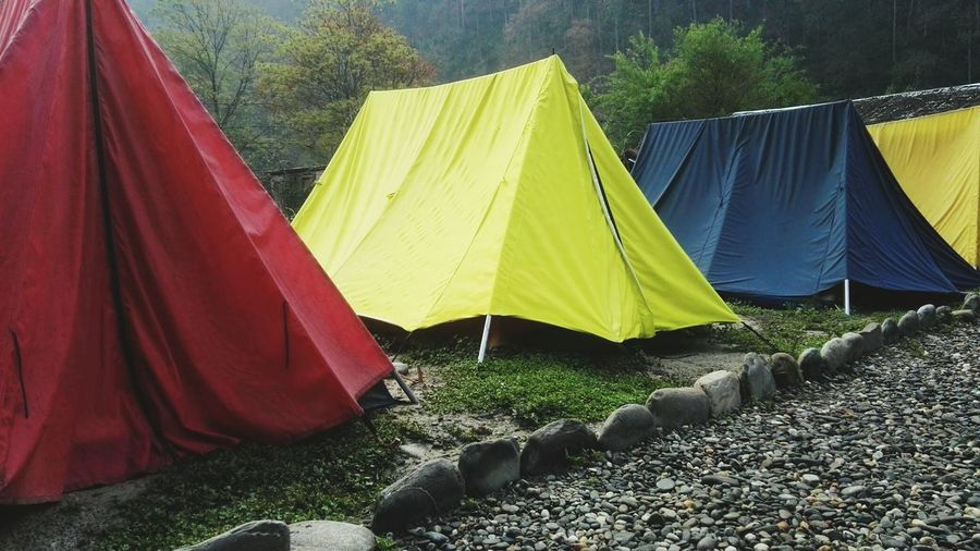 Tents in the early morning light in Nepal. Tenting Nepal Asia Backpackingescapades traveling in Nepal Traveling In Nepal