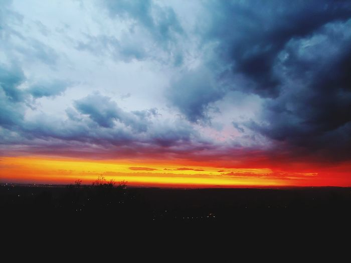 Cloudscape Clouds And Sky Colors Sunset_collection Sunset And Clouds  Sunset_captures Multi Colored City Red Horizon Awe Dramatic Sky Sky Landscape Storm Cloud Thunderstorm Atmospheric Mood Moody Sky Power In Nature