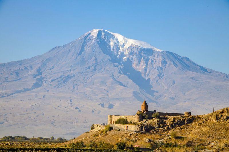 The monastery khor virap, armenia