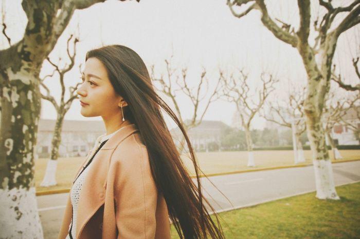 Shootin @Fudan University Fudan University Shanghai Natural Beauty Long Hair Classical Beauty Solitude Breeze