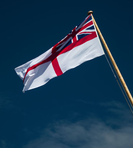 Day Flag Low Angle View Navy Outdoors Patriotism Royal Navy White Ensign