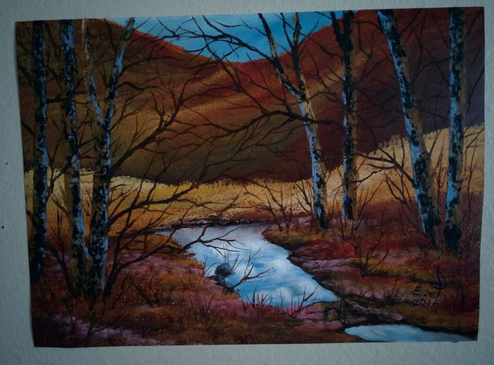 """My second favorite campground not too far from lake Casitas and very close to city of Ojai,very nice place ,painted on the spot ,oil on canvas 14""""-20"""". Sunset #sun #clouds #skylovers #sky #nature #beautifulinnature #naturalbeauty #photography #landscape Landscape Sky And Trees Nature Wildlife & Nature Painting Art, Drawing, Creativity Fine Art Drawing Naturelovers Nature_collection Natural Beauty . Koi."""