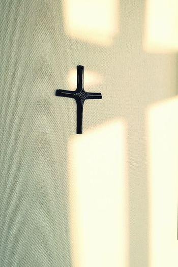 Religion Cross Spirituality Indoors  No People Cross Shape Hospital The City Light