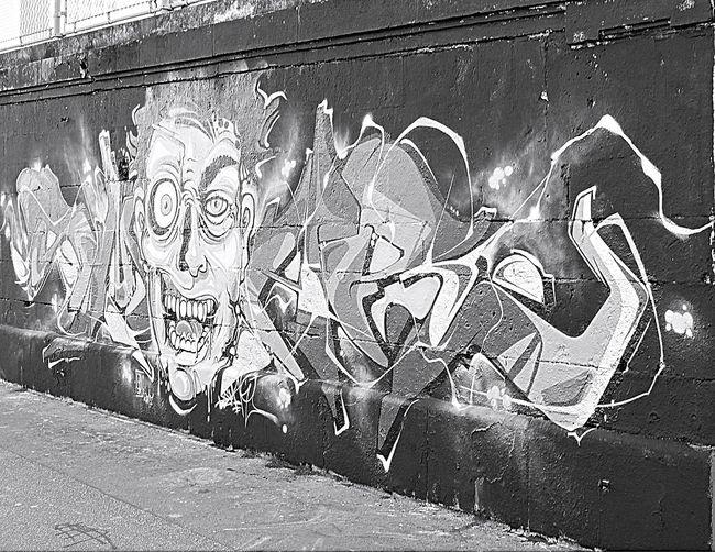 Black And White Photography Blackandwhite Graffiti Art Grafiti Wall Grafitiart Grafitti No People Outdoors Wall