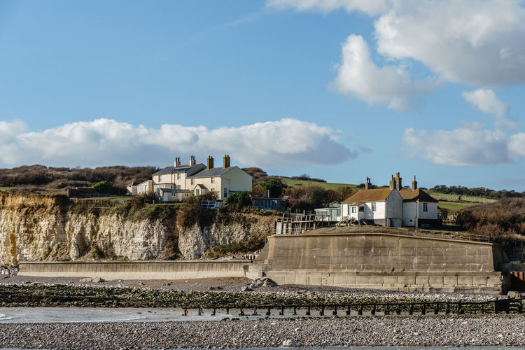 Architecture Building Exterior Built Structure Chalk Cliffs Costal Erosion Cottage Cuckmere Haven Day East Sussex Fisherman's Cottages House Outdoors Residential Building Seven Sisters Sky South Downs Sussex Coast Travel Destinations