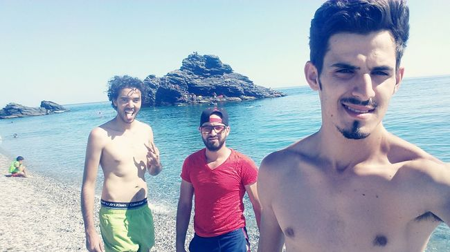 Targha Targha Plage Clear Sky Happiness Friendship Teenage Boys Trip With Friends Travel Destinations Outdoors Relaxation Crazy Moments Enjoying Life Travel Morocco_travel Smile❤ MoroccoTrip Moroccoroadtrip Selfie ✌ Long Hair Happiness Beauty In Nature Tranquility