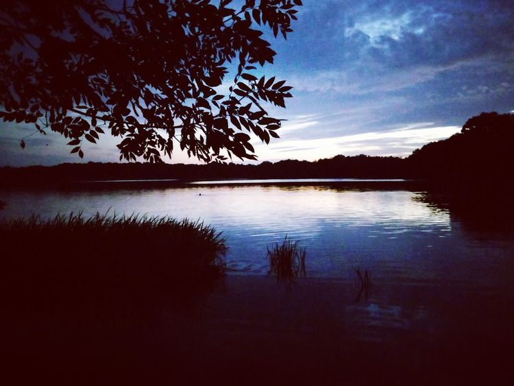 Water Lake Nature Beauty In Nature Landscape No People Swimming Outdoors Sky Reflection Silhouette Tree Sunset Tranquility Scenics Tranquil Scene Cloud - Sky Day