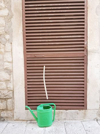 Watering Can Built Structure Pipe - Tube Green Color Stone Pavement Mediterranean  Sunlight Graphic Photography Urban Photography Close-up Textures And Surfaces Airconditioning