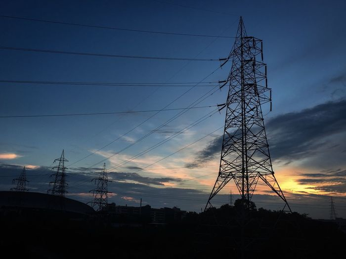 Wonderful Sky captured with nikon d3300 #wires Technology Electricity  Cable Sky Power Supply Connection Power Line  Electricity Pylon Fuel And Power Generation Silhouette Sunset Built Structure Low Angle View Architecture Nature Cloud - Sky No People Tall - High Tower Metal Complexity Outdoors Global Communications Electrical Equipment