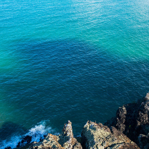 Seaside Cliff Beauty In Nature Blue Clear Ocean Cliff Day Hawaii High Angle View Landscape Nature No People Outdoors Rock - Object Rock Face Scenics Sea Serene Shore Break Tranquil Scene Tranquility Water