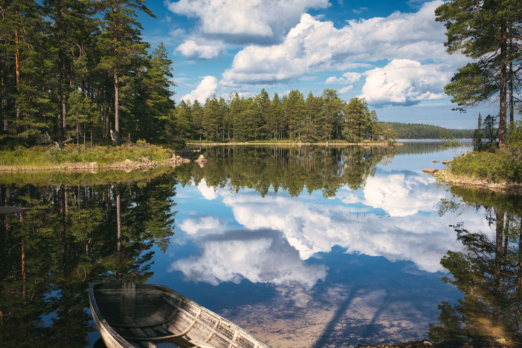 Tivedens National Park in September, Sweden Mirror Nature Reflection Sweden Beauty In Nature Boat Cloud - Sky Day Fujifilm Fujifilm_xseries Lake Nature No People Non-urban Scene Outdoors Plant Reflection Scenics - Nature Sky Tivedens National Park Tranquil Scene Tranquility Transportation Tree Water