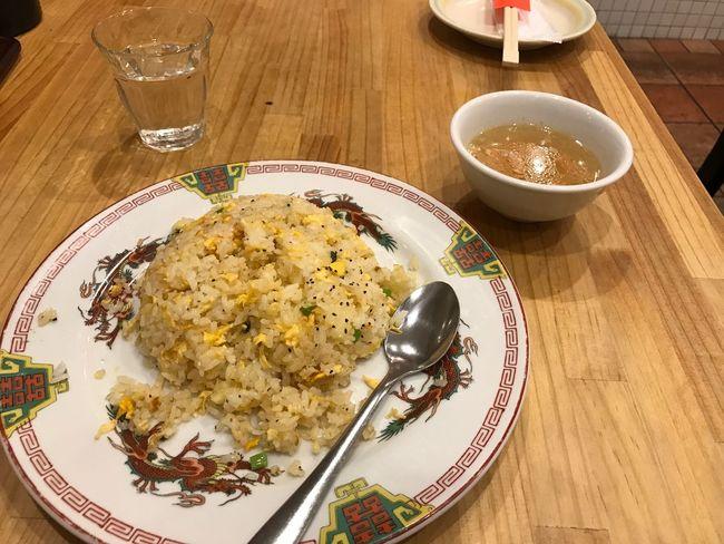 玉子チャーハンとスープ
