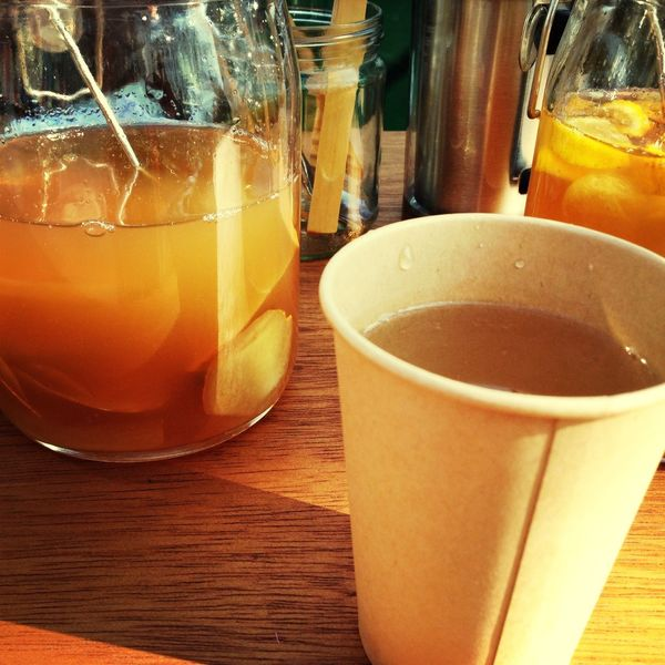 drinking HOT Ginger 泡盛