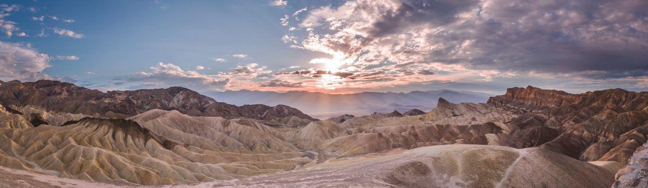 Sunset Sunset_collection Panorama Death Valley Zabriskie Point Skyporn Sky Cloud - Sky Beauty In Nature California USA USAtrip Roadtrip California Love