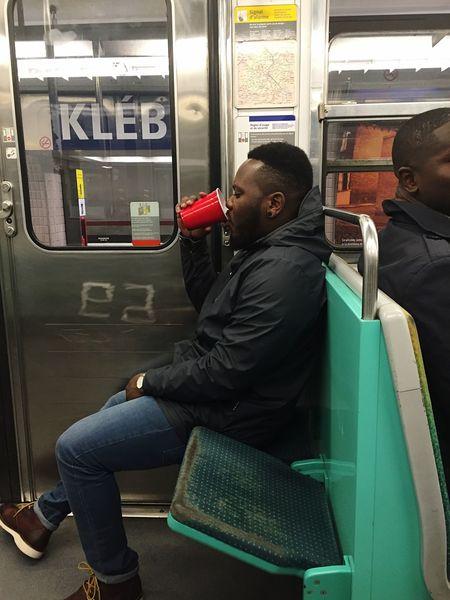 Taking Photos Enjoying Life Drinking Redcups Subway Paris Party Before