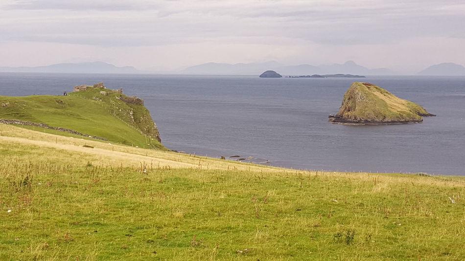 Coastview Coastline Noth Sea Grass Isle Of Skye Landscape Nature Outdoors Scenery Sea Water