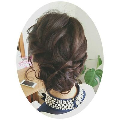 ヘアセット 編み込みのサイドアップ♡ 定番 Love ブライダル ヘアアレンジ Hair おしゃれ アレンジ アップ Set Hair セットサロン