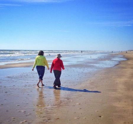 Beach stroll Beach Beach Photography Couple Walking Walking Together Stroll Sand Seashore Outdoors